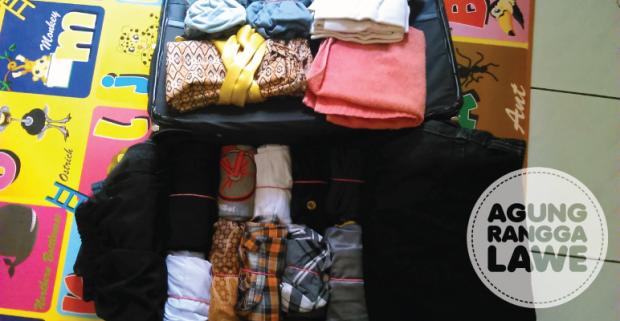 barang bawaan selama seminggu