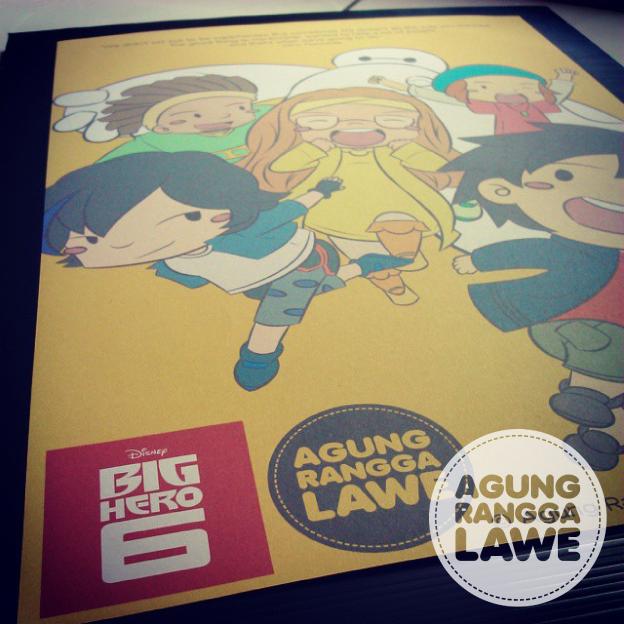 poster Big Hero 6 versi cetak
