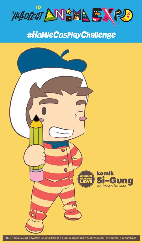 Si-Gung dengan #HoMieCosplayChallenge