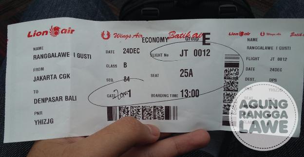 boarding pass Lion Air