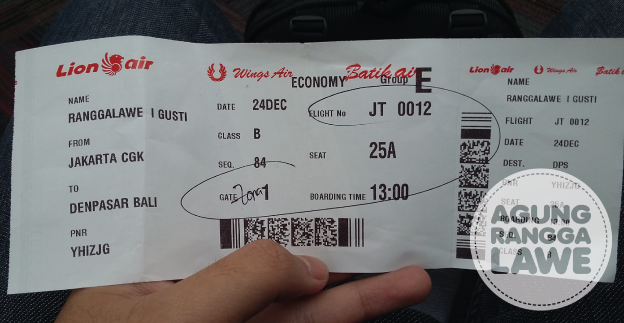 boarding pass Lion Air