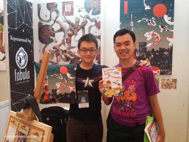bersama Evan Raditya Pratomo, pemilik Papercaptain Studio