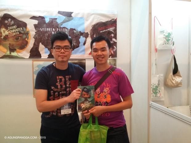 bersama David Adhinarya Lojaya, ilustrator