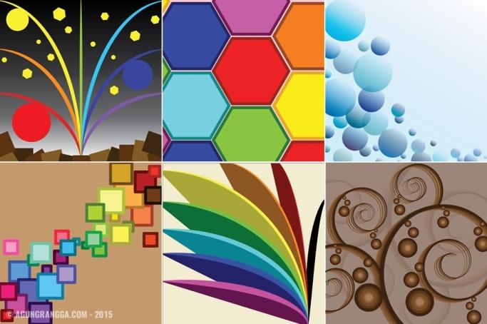 belajar membuat bentuk abstrak di Adobe Illustrator