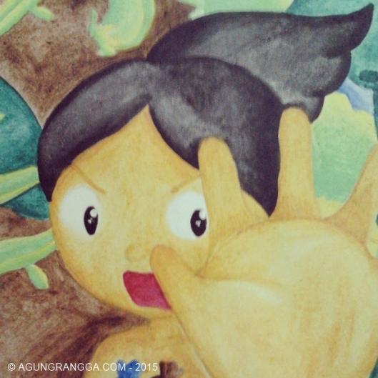 ilustrasi cerita rakyat timun mas