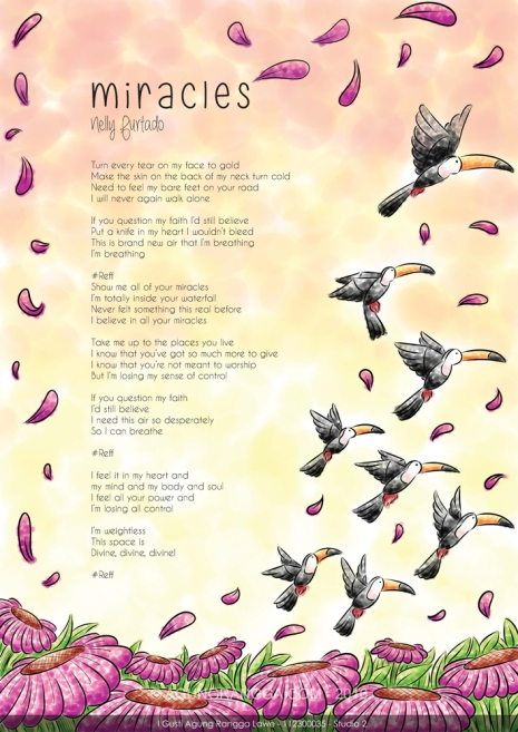 Ilustrasi lirik Nelly Furtado - Miracles