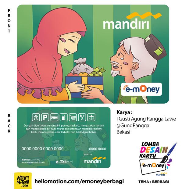 desain kartu Mandiri e-money Berbagi Berkah