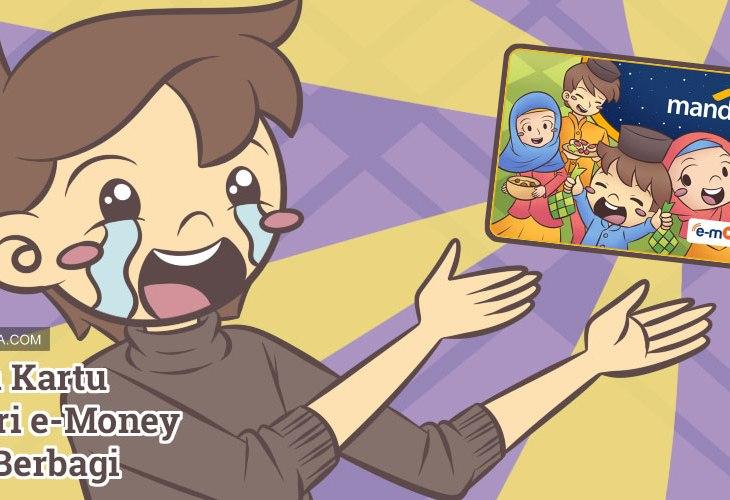 Desain Kartu Mandiri e-Money Tema Berbagi