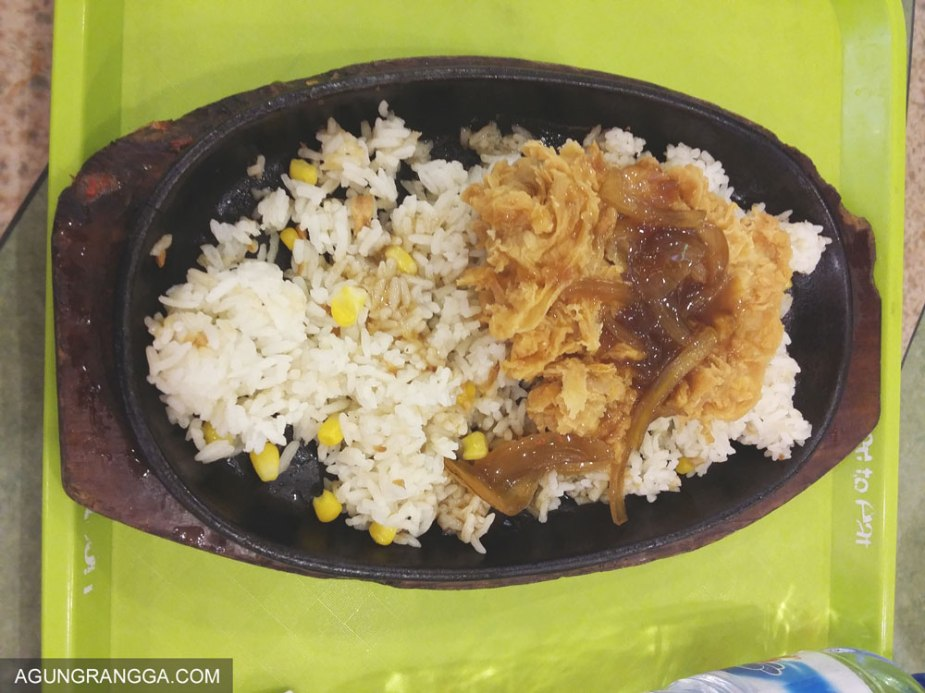 chicken crispy hotplate di YamMie Hotplate