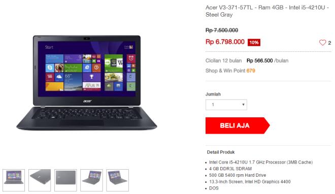 Salah satu laptop yang pas untuk mahasiswa DKV