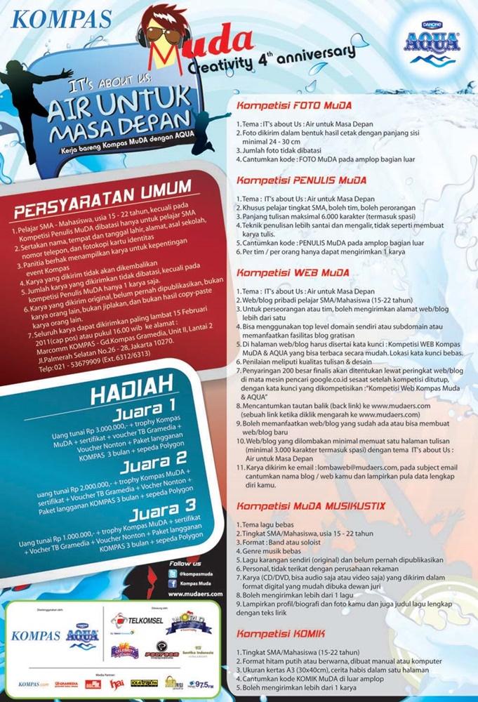 Kompetisi WEB Kompas MuDA & AQUA