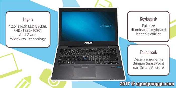 keyboard, touchpad, layar ASUSPRO B8230
