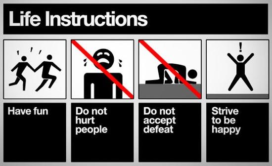 life instructions