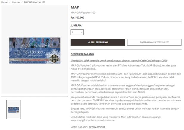 MAP Gift Voucher 100