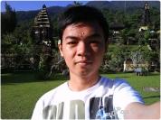 selfie di pura gunung salak