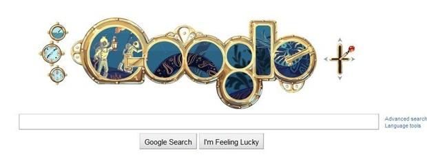 Today Google Doodle | Jules Verne