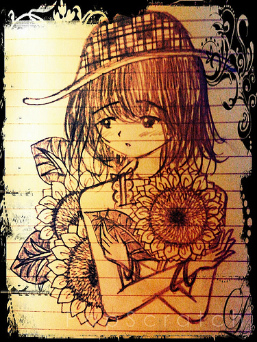 """""""Girl With Sunflower"""""""