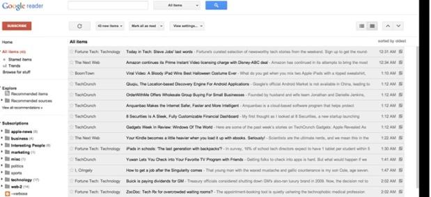 versi web Google Reader