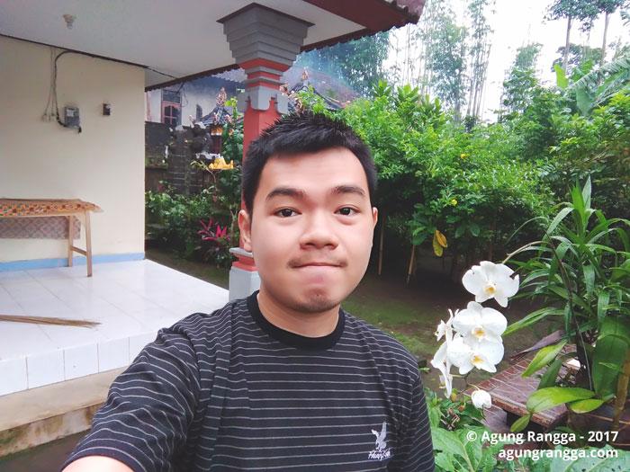 selfie sebelum berangkat