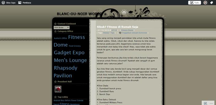 blog pertama yang dibuat di wordpress.com