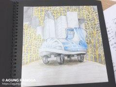 salah satu ilustrasi gaya visual art deco