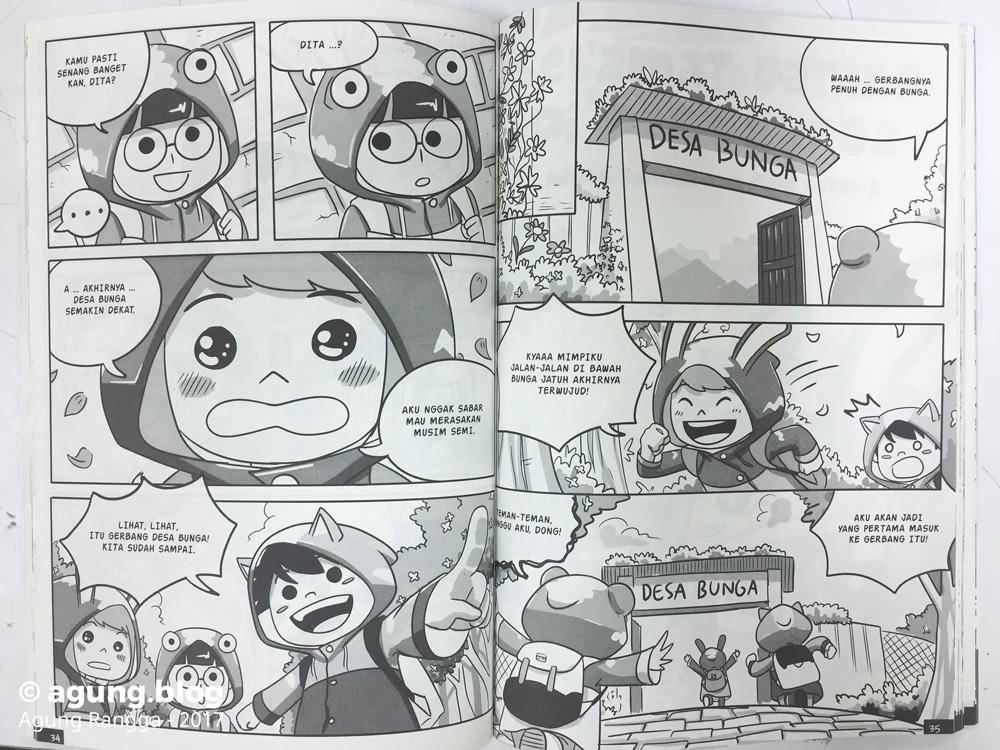 Cuplikan Komik Bippo dan Kawan-Kawan Desa Bunga 1