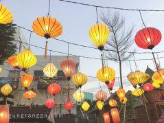Hiasan lampion di Chinatown Bandung