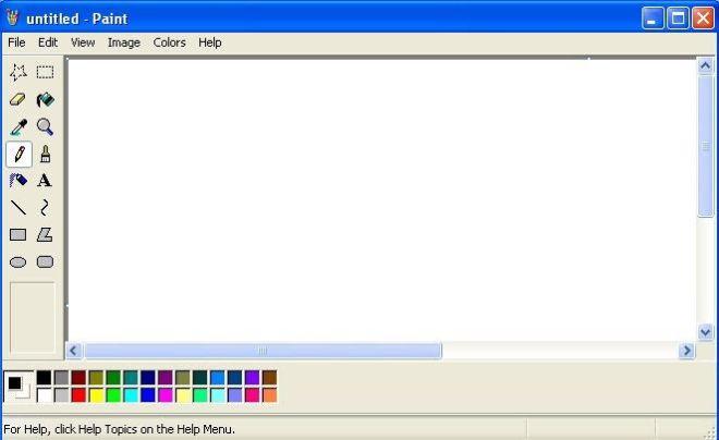 Microsoft Paint di Windows XP