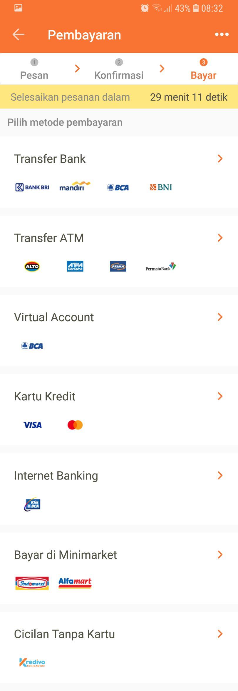 6 - Pilih metode pembayaran sesuai yang kamu inginkan